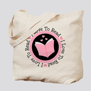 I Love To Read Books Tote Bag
