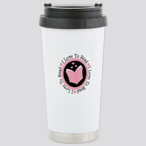 I Love To Read Books Stainless Steel Travel Mug