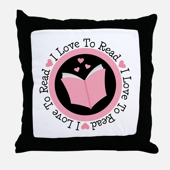 I Love To Read Books Throw Pillow