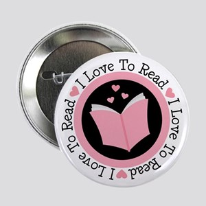"I Love To Read Books 2.25"" Button"