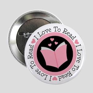 "I Love To Read Books 2.25"" Button"