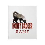 Honey Badger BAMF Throw Blanket