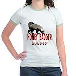 Honey Badger BAMF Jr. Ringer T-Shirt