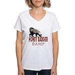 Honey Badger BAMF Women's V-Neck T-Shirt