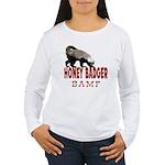 Honey Badger BAMF Women's Long Sleeve T-Shirt