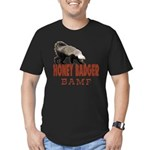 Honey Badger BAMF Men's Fitted T-Shirt (dark)