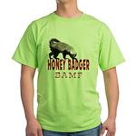 Honey Badger BAMF Green T-Shirt