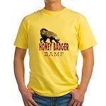 Honey Badger BAMF Yellow T-Shirt