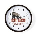 Honey Badger BAMF Wall Clock