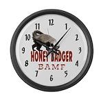 Honey Badger BAMF Large Wall Clock
