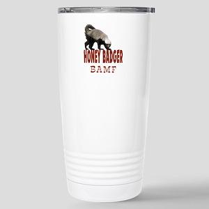 Honey Badger BAMF Stainless Steel Travel Mug