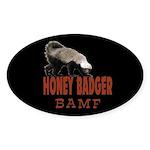 Honey Badger BAMF Sticker (Oval 50 pk)