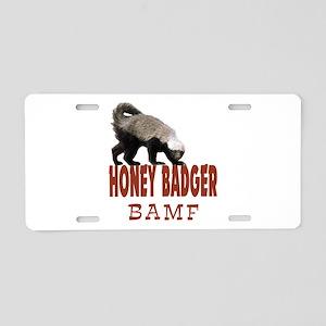Honey Badger BAMF Aluminum License Plate