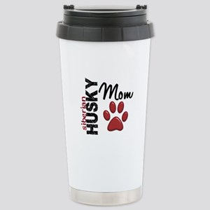 Siberian Husky Mom 2 Stainless Steel Travel Mug
