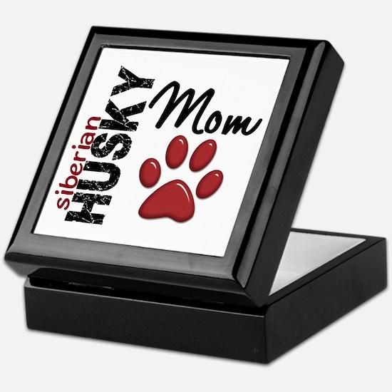 Siberian Husky Mom 2 Keepsake Box