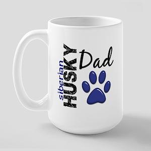Siberian Husky Dad 2 Large Mug