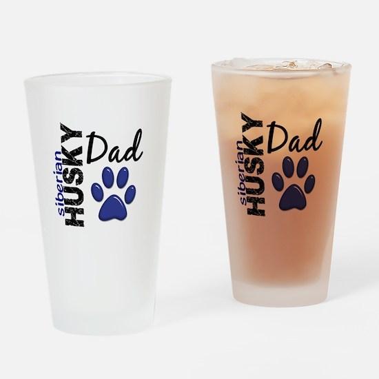 Siberian Husky Dad 2 Drinking Glass