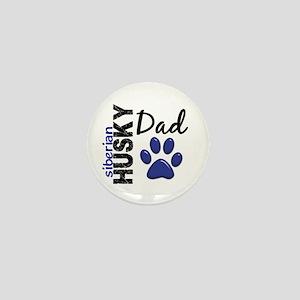 Siberian Husky Dad 2 Mini Button