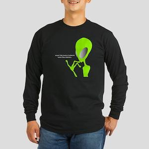 Alien Talks Long Sleeve Dark T-Shirt
