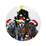 Greta, Johannes, Ollie Ornament (Round)