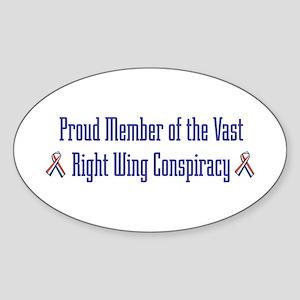 Conspiracy Oval Sticker