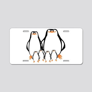 Penguin Family Aluminum License Plate