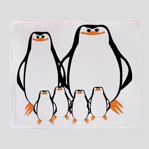 Penguin Family Throw Blanket