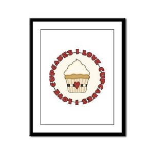 I Love Cupcakes Framed Panel Print