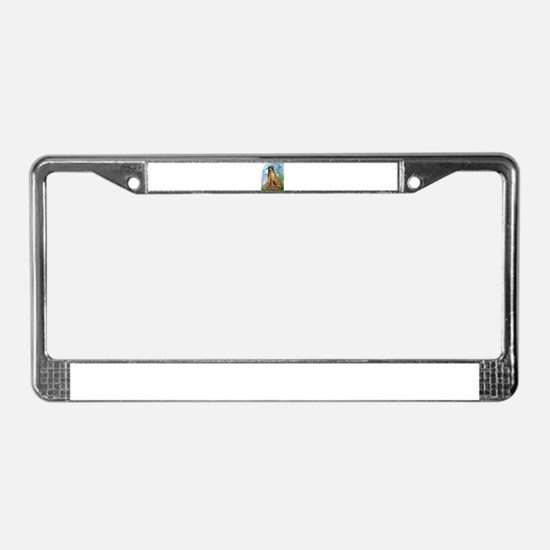 Mountain Lion, wildlife art, License Plate Frame