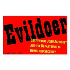 Certified Evildoer Rectangle Decal