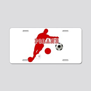 Polish Soccer Player Aluminum License Plate