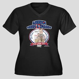 """""""Tester"""" Women's Plus Size V-Neck Dark T-Shirt"""