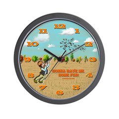 Skeet Trap Shooting Wall Clock