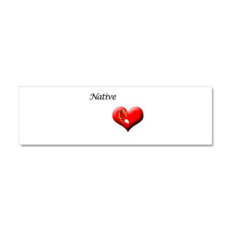 Native Heart-Feather Accessor Car Magnet 10 x 3