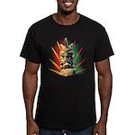 African Men's Fitted T-Shirt (dark)