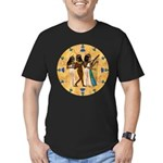 Nubian Musicians Men's Fitted T-Shirt (dark)