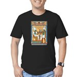 Osiris,Pharoah,Horus Men's Fitted T-Shirt (dark)