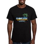 Graffiti Corfu Men's Fitted T-Shirt (dark)