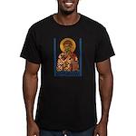 St. Spyridon Men's Fitted T-Shirt (dark)