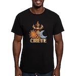 Snake Goddess Men's Fitted T-Shirt (dark)