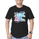 Crete beach Men's Fitted T-Shirt (dark)