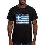 Crete w/Flag Men's Fitted T-Shirt (dark)