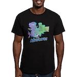 Mykonos Map Men's Fitted T-Shirt (dark)