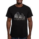 Mykonos Windmill Men's Fitted T-Shirt (dark)