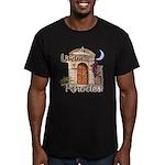 Lindos, Rhodes Men's Fitted T-Shirt (dark)