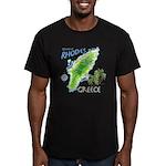 Rhodes Map Men's Fitted T-Shirt (dark)