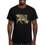 Lion of St. Mark Men's Fitted T-Shirt (dark)
