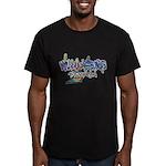 Williamsburg Graffiti Men's Fitted T-Shirt (dark)