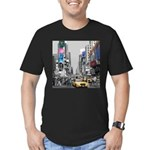 Times Square Men's Fitted T-Shirt (dark)