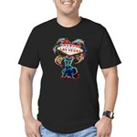 Las Vegas Lights Men's Fitted T-Shirt (dark)